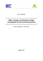 Clima, energía y crecimiento en Brasil