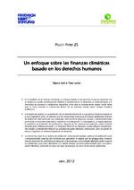 Un enfoque sobre las finanzas climáticas basado en los derechos humanos