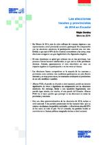 Las elecciones locales y provinciales de 2014 en Ecuador