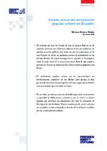 Estado actual del movimiento popular urbano en Ecuador