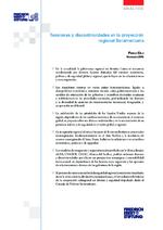 Tensiones y discontinuidades en la proyección regional Suramericana