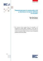 Transiciones para la conducción civil y reformas en el sector defensa en Ecuadeor