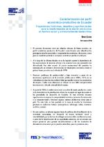 Caracterización del perfil económico-productivo de Ecuador