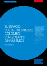 El espacio social fronterizo Colombo Venezolano
